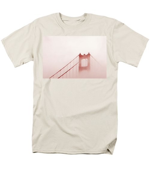 Men's T-Shirt  (Regular Fit) featuring the photograph Foggy Golden Gate by Art Block Collections