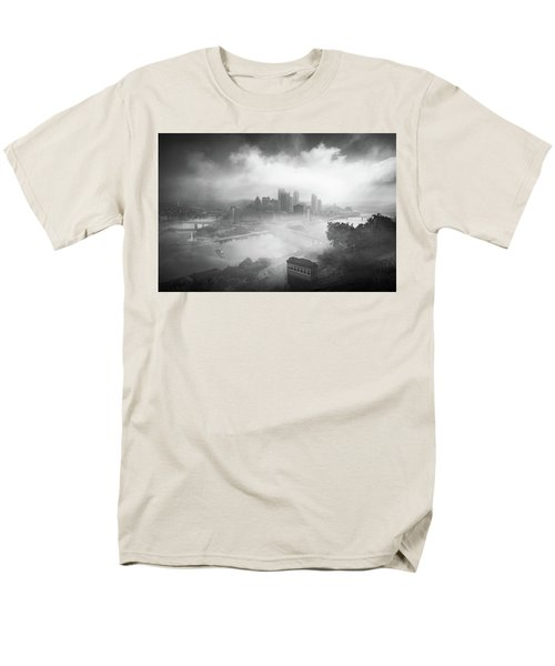 Men's T-Shirt  (Regular Fit) featuring the photograph Foggy Pittsburgh  by Emmanuel Panagiotakis