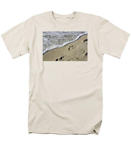 Footprints On The Beach Men's T-Shirt  (Regular Fit) by Robb Stan