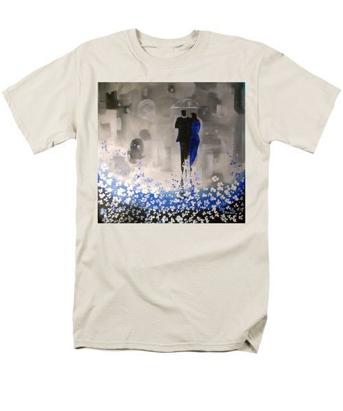 Men's T-Shirt  (Regular Fit) featuring the painting Forever Love by Raymond Doward