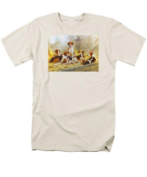 Men's T-Shirt  (Regular Fit) featuring the digital art Fox Hounds by Charmaine Zoe