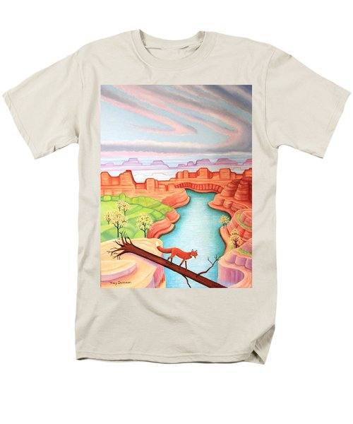 Fox Trotting Men's T-Shirt  (Regular Fit) by Tracy Dennison