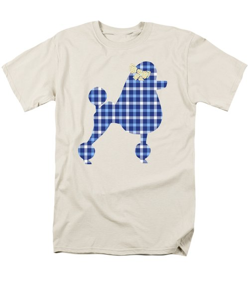 Men's T-Shirt  (Regular Fit) featuring the mixed media French Poodle Plaid by Christina Rollo
