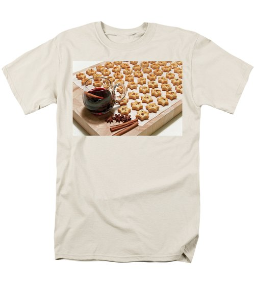 Freshly Baked Cheese Cookies And Hot Wine Men's T-Shirt  (Regular Fit) by GoodMood Art