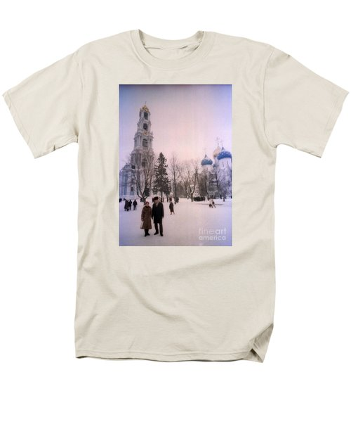 Friends In Front Of Church Men's T-Shirt  (Regular Fit) by Ted Pollard