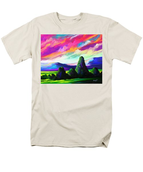 Men's T-Shirt  (Regular Fit) featuring the painting From A Distance by Anthony Mwangi