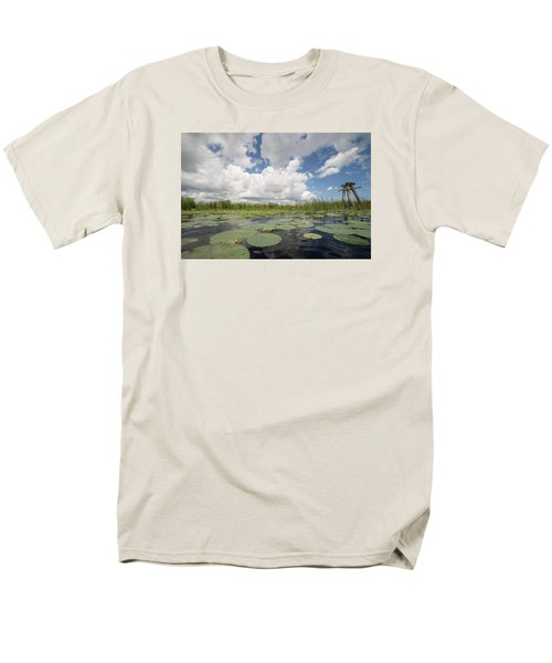 From A Frog's Point Of View - Lake Okeechobee Men's T-Shirt  (Regular Fit) by Christopher L Thomley
