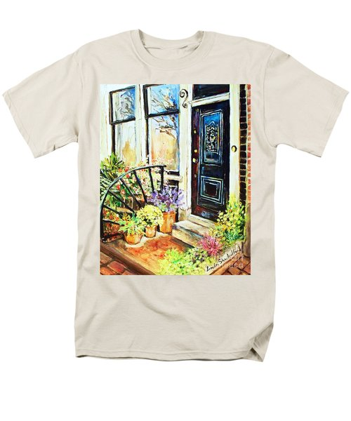 Front Porch Men's T-Shirt  (Regular Fit) by Linda Shackelford