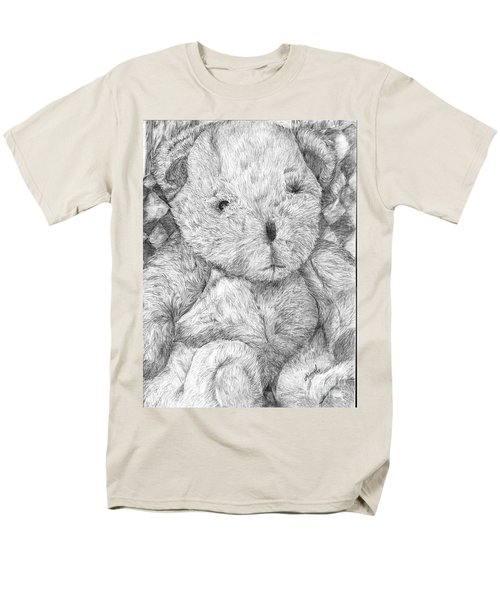 Men's T-Shirt  (Regular Fit) featuring the drawing Fuzzy Wuzzy Bear  by Vicki  Housel