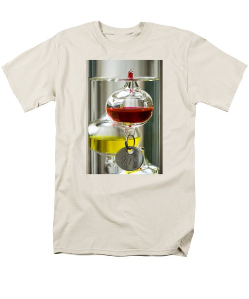 Men's T-Shirt  (Regular Fit) featuring the photograph Galileo Thermometer by Jeremy Lavender Photography