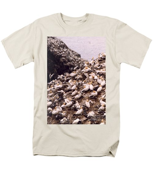 Gannet Cliffs Men's T-Shirt  (Regular Fit) by Mary Mikawoz