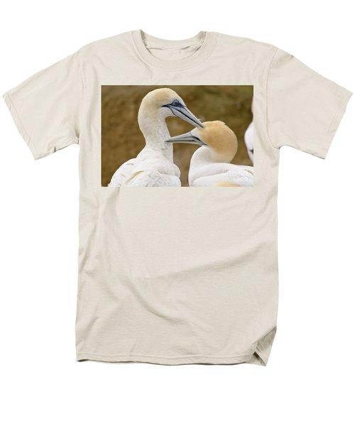 Men's T-Shirt  (Regular Fit) featuring the photograph Gannet Pair 1 by Werner Padarin