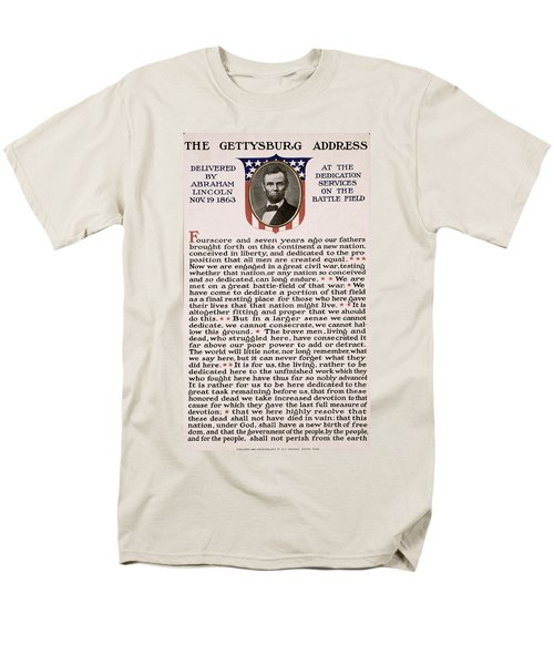 Gettysburg Address Men's T-Shirt  (Regular Fit) by International  Images