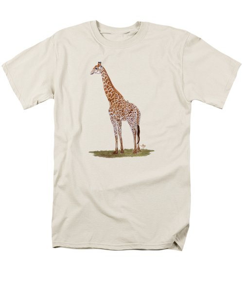 Giraffe Men's T-Shirt  (Regular Fit) by Angeles M Pomata