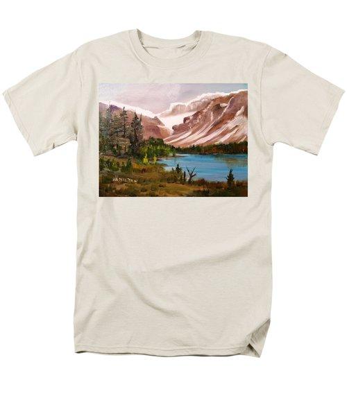Glacier Lake Men's T-Shirt  (Regular Fit) by Larry Hamilton