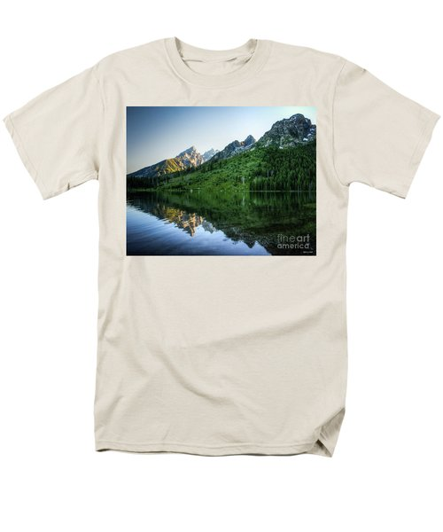 Men's T-Shirt  (Regular Fit) featuring the photograph Glacier Lake by Rebecca Hiatt