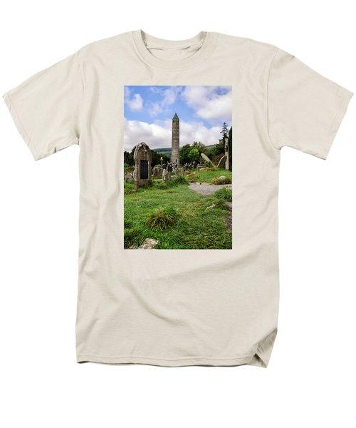 Glendalough Tower Ireland Men's T-Shirt  (Regular Fit) by Martina Fagan