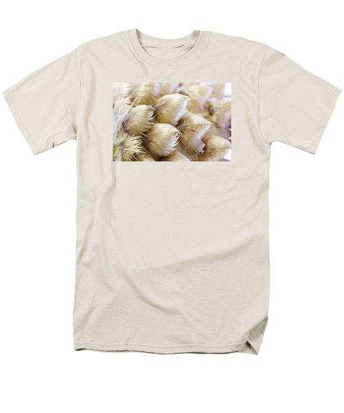 Globe Cornflower Seed Heads - Macro Men's T-Shirt  (Regular Fit) by Sandra Foster