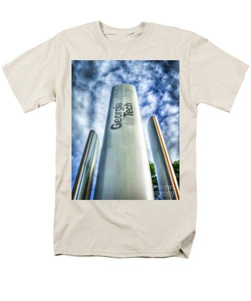Men's T-Shirt  (Regular Fit) featuring the photograph Go Tech 2 Georgia Tech Art by Reid Callaway