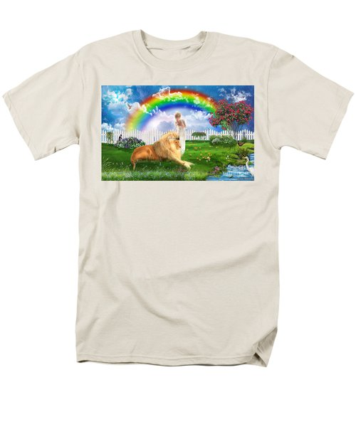 Men's T-Shirt  (Regular Fit) featuring the digital art God's Perfect Promise  by Dolores Develde