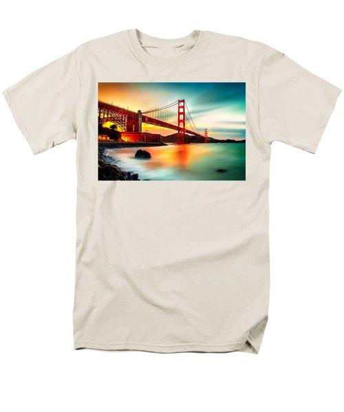 Golden Gateway Men's T-Shirt  (Regular Fit) by Az Jackson