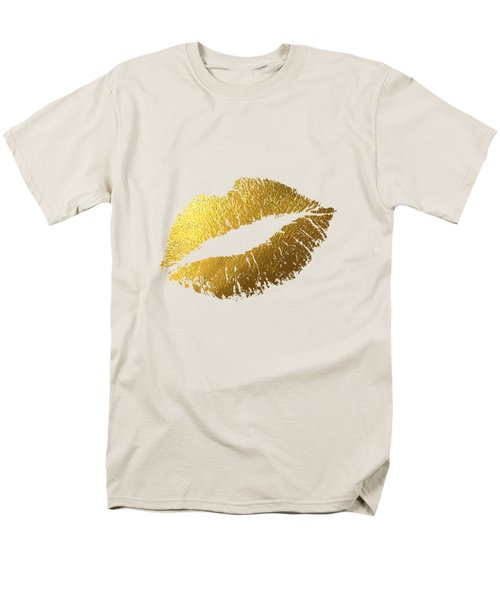 Gold Lips Men's T-Shirt  (Regular Fit) by BONB Creative