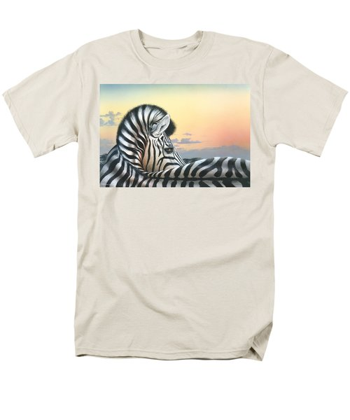 Men's T-Shirt  (Regular Fit) featuring the painting Golden Sky by Mike Brown