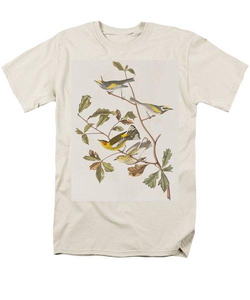 Golden Winged Warbler Or Cape May Warbler Men's T-Shirt  (Regular Fit) by John James Audubon