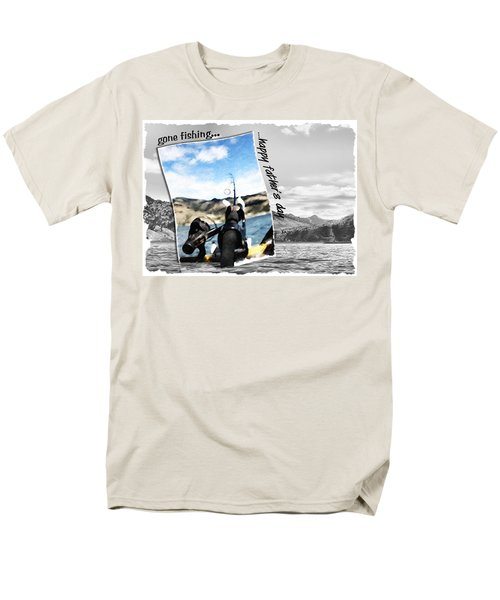 Gone Fishing Father's Day Card Men's T-Shirt  (Regular Fit)