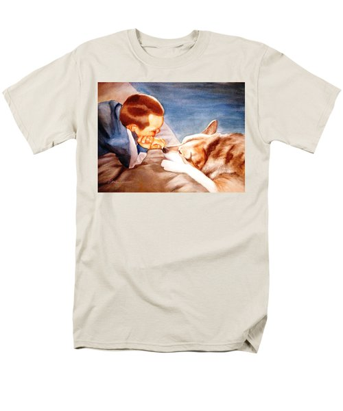 Men's T-Shirt  (Regular Fit) featuring the painting Goodbye Misty by Marilyn Jacobson