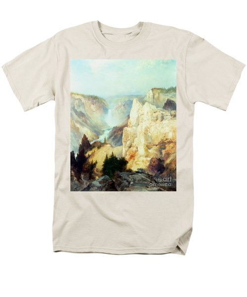 Grand Canyon Of The Yellowstone Park Men's T-Shirt  (Regular Fit) by Thomas Moran