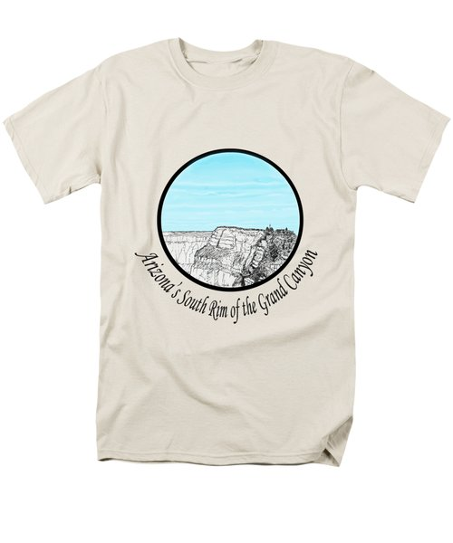 Grand Canyon - South Rim Men's T-Shirt  (Regular Fit) by James Lewis Hamilton