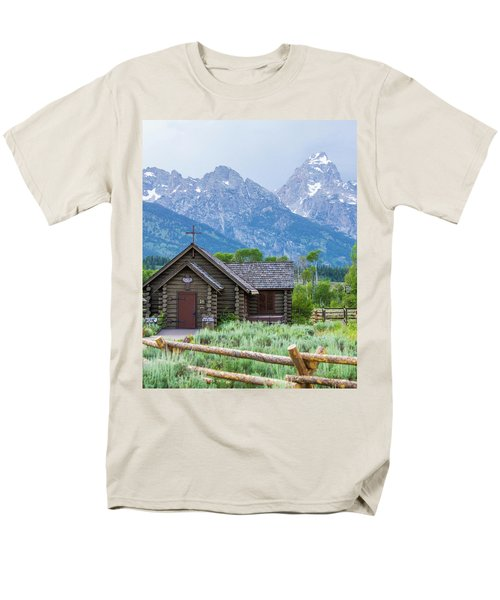 Men's T-Shirt  (Regular Fit) featuring the photograph Grand Teton Church by Dawn Romine