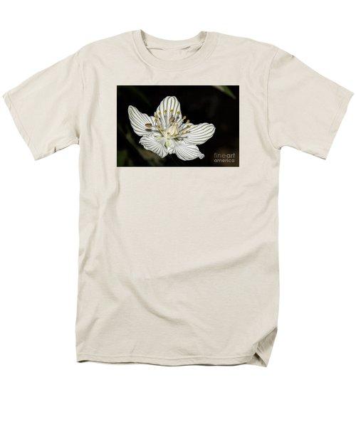 Men's T-Shirt  (Regular Fit) featuring the photograph Grass Of Parnassus by Barbara Bowen