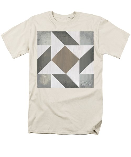 Men's T-Shirt  (Regular Fit) featuring the painting Gray Quilt by Debbie DeWitt