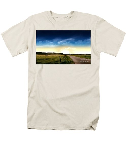 Grazing Time Men's T-Shirt  (Regular Fit) by Rod Jellison