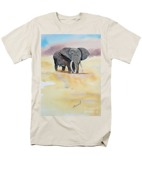 Men's T-Shirt  (Regular Fit) featuring the painting Great African Elephant  by Vicki  Housel