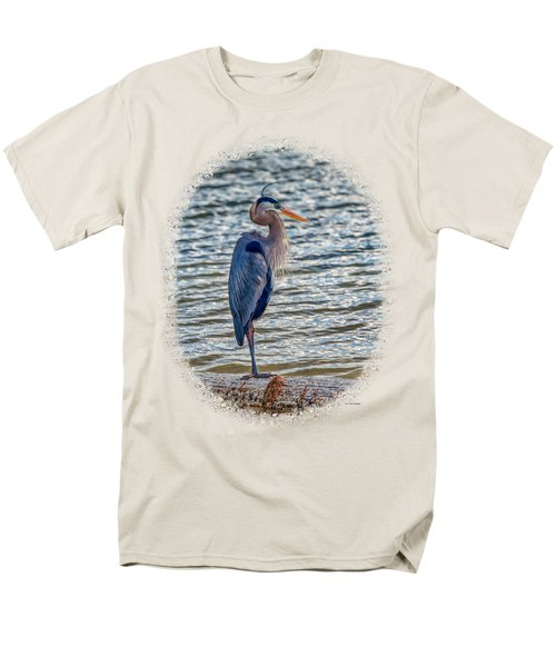 Great Blue Heron Men's T-Shirt  (Regular Fit) by John M Bailey