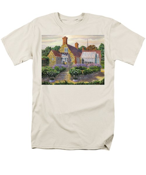 Great Houghton Cottage Men's T-Shirt  (Regular Fit) by David Gilmore