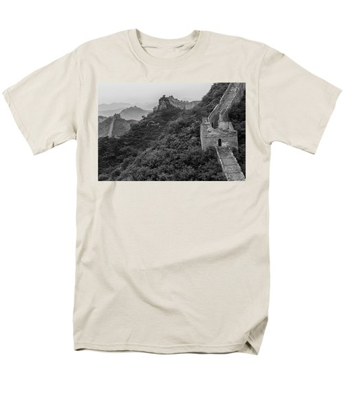 Men's T-Shirt  (Regular Fit) featuring the photograph Great Wall 3, Jinshanling, 2016 by Hitendra SINKAR