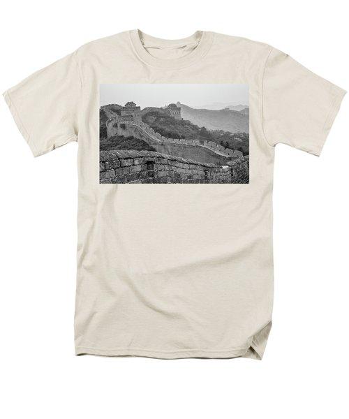 Men's T-Shirt  (Regular Fit) featuring the photograph Great Wall 7, Jinshanling, 2016 by Hitendra SINKAR