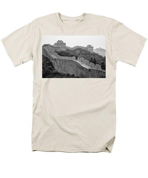 Men's T-Shirt  (Regular Fit) featuring the photograph Great Wall 8, Jinshanling, 2016 by Hitendra SINKAR