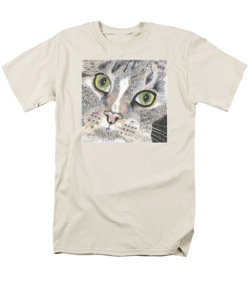 Men's T-Shirt  (Regular Fit) featuring the drawing Green Eyes by Arlene Crafton