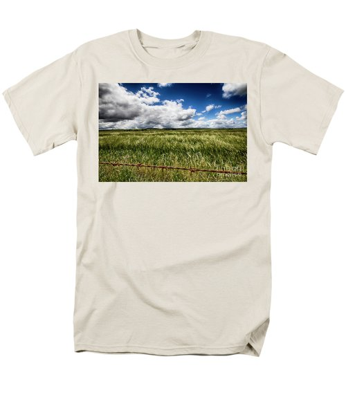 Men's T-Shirt  (Regular Fit) featuring the photograph Green Fields by Douglas Barnard