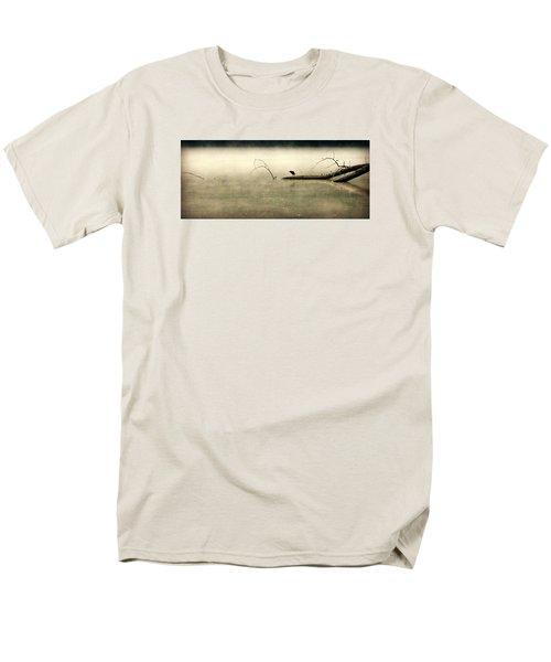 Green Heron In Dawn Mist Men's T-Shirt  (Regular Fit) by Kathy Barney