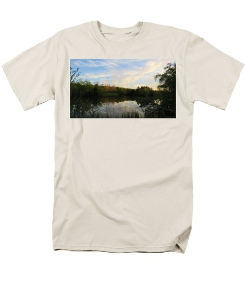 Men's T-Shirt  (Regular Fit) featuring the photograph Greenfield Pond by Kimberly Mackowski