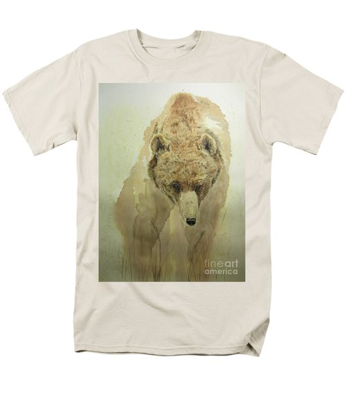 Men's T-Shirt  (Regular Fit) featuring the painting Grizzly Bear1 by Laurianna Taylor
