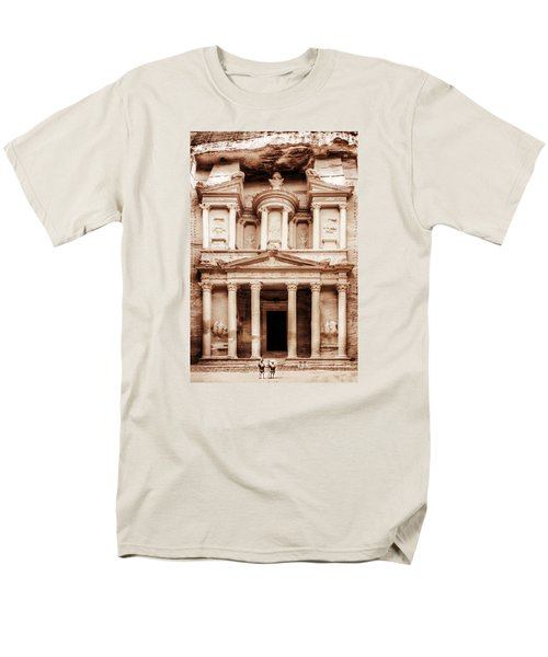 Men's T-Shirt  (Regular Fit) featuring the photograph Guarding The Petra Treasury by Nicola Nobile