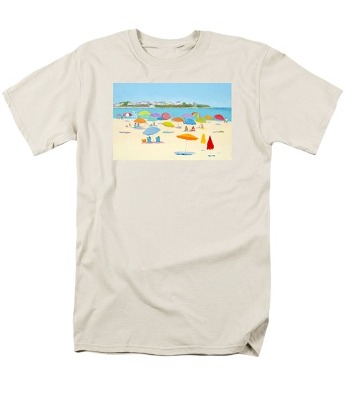 Hampton Beach Umbrellas Men's T-Shirt  (Regular Fit) by Jan Matson