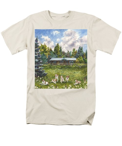 Men's T-Shirt  (Regular Fit) featuring the painting Happy Dogs by Anne Gifford